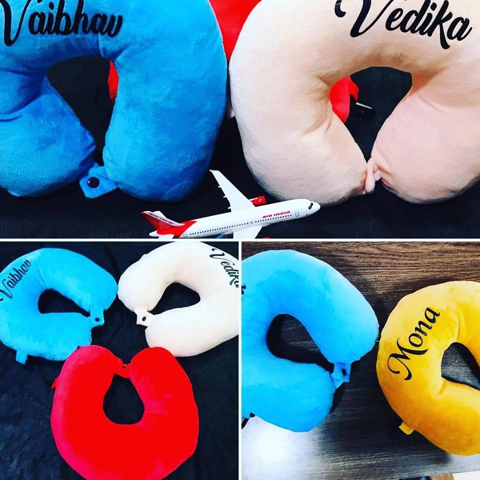 personalized travel neck pillow online