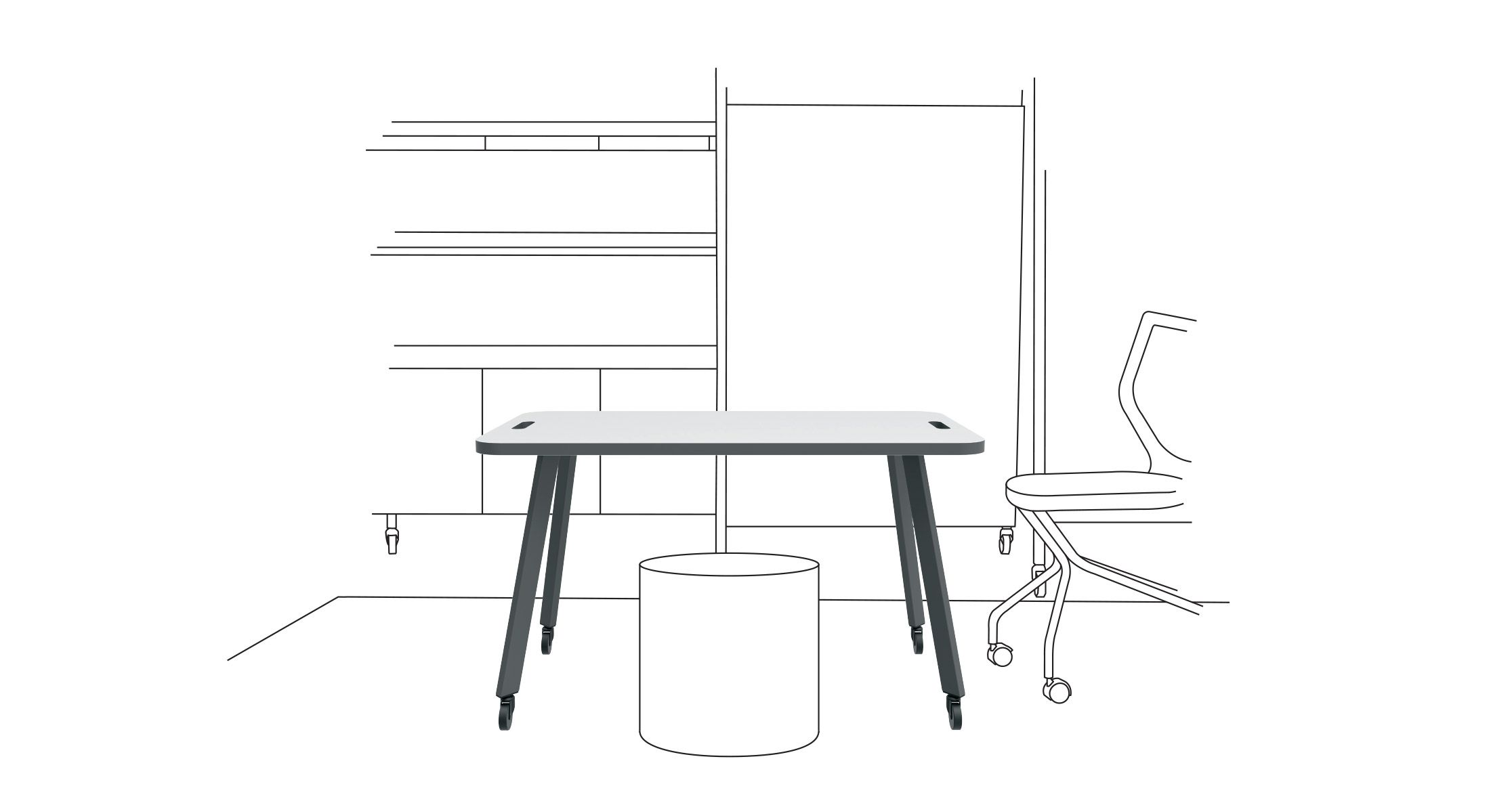 Rockwell Unscripted Easy Table: The warm expression of