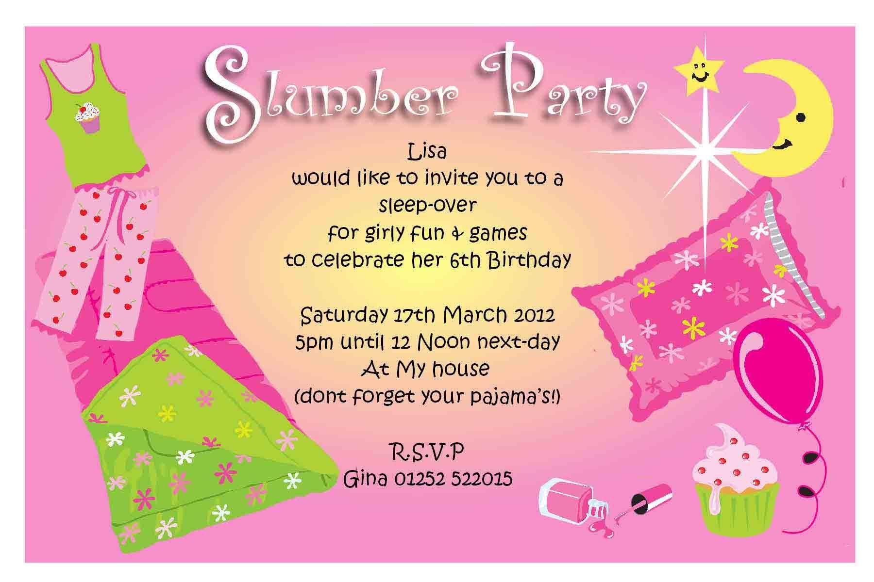 Free Pajama Party Invitations | Pajama Party | Pinterest | Party ...