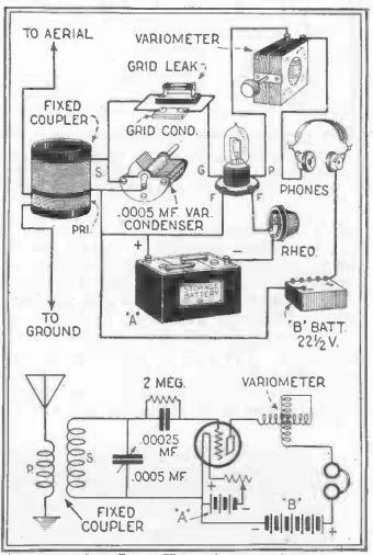 one tube regen radio circuit