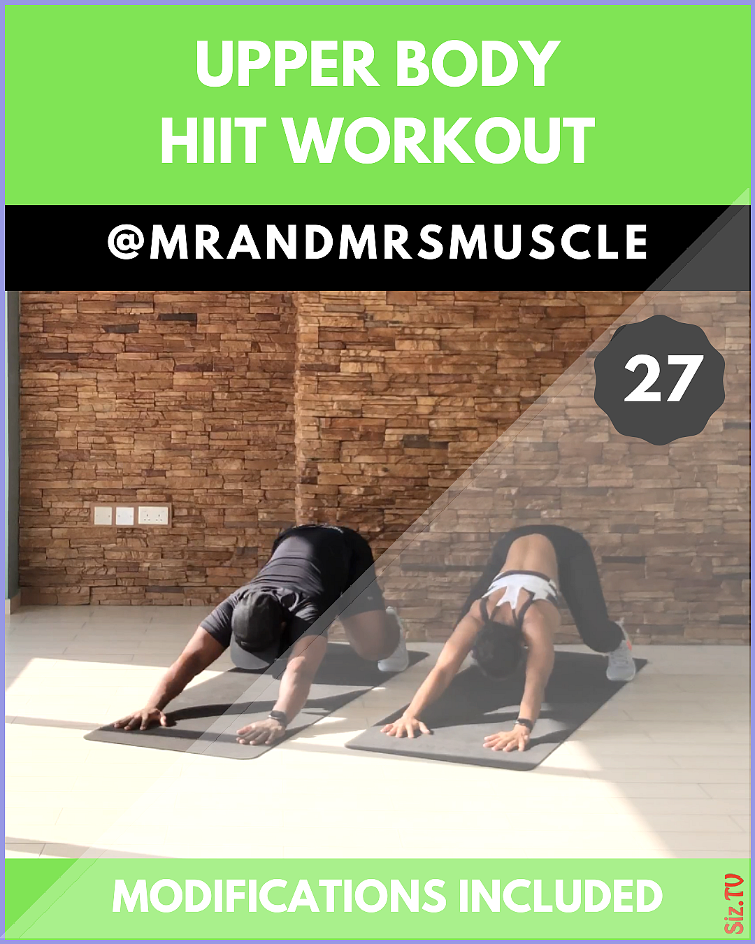 Upper Body HIIT Workout Upper Body HIIT Workout MrandMrsMuscle mrandmrsmuscle Upper Body Train your...