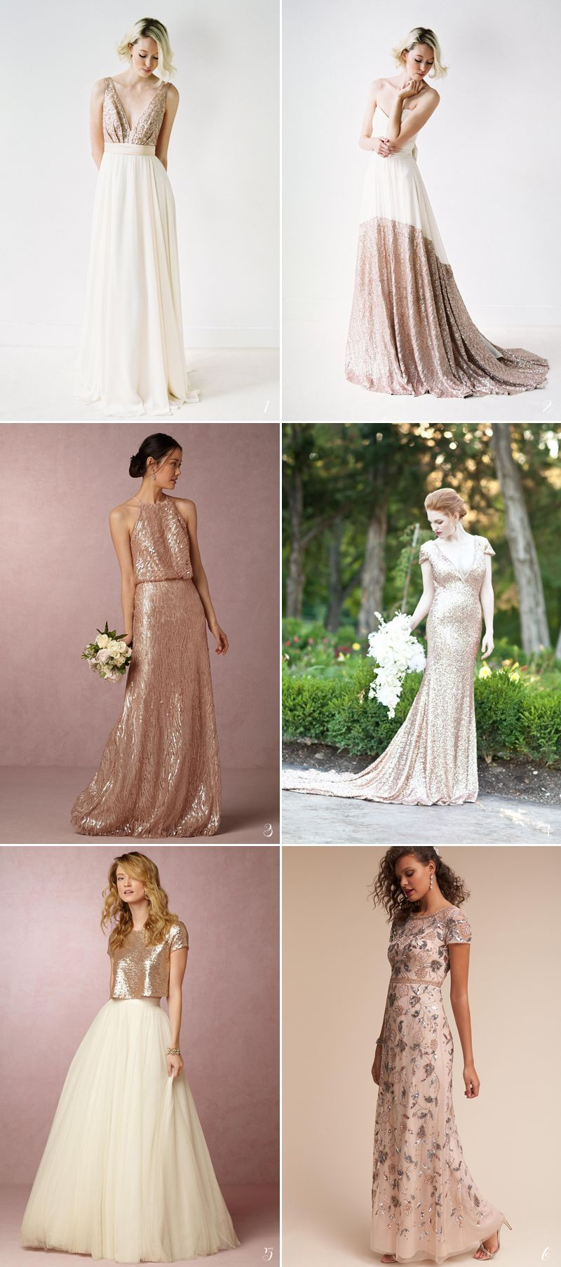 26 Stunning Rose Gold Bridal Apparel Ideas Praise Wedding Bridal Outfits Gowns Of Elegance Rose Gold Bridal