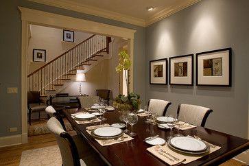 Paint Is Benjamin Moore Wedgewood Grey Dining Room Traditional