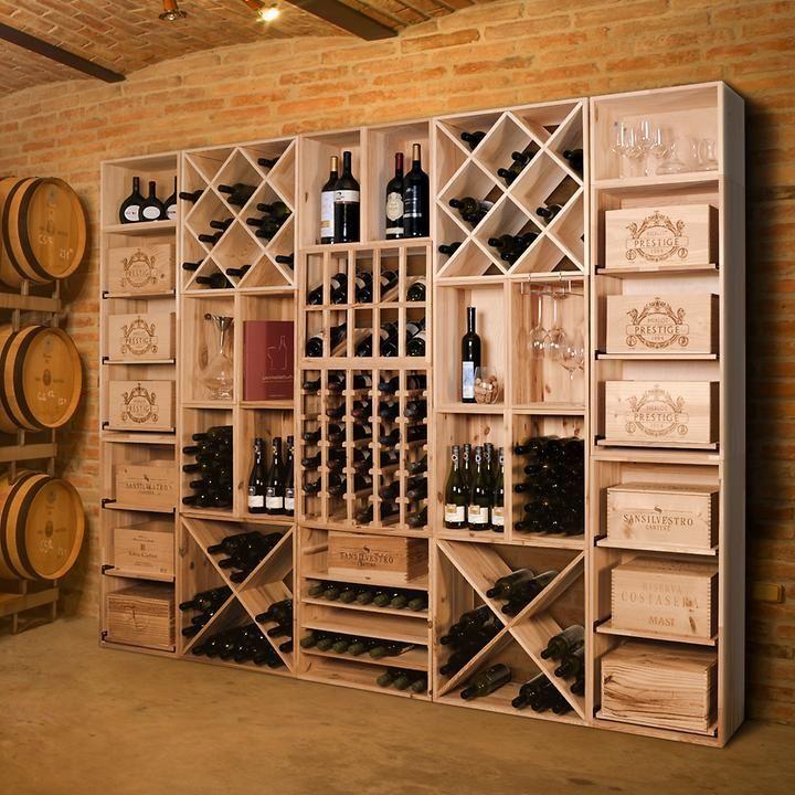 Weinregalsystem VINCASA 60 cm aus Kiefern-Holz | weinregal ...