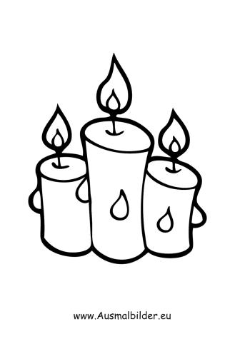 Ausmalbild Drei Weihnachtskerzen Ausmalbilder Weihnachten Weihnachtskerzen Kerzen