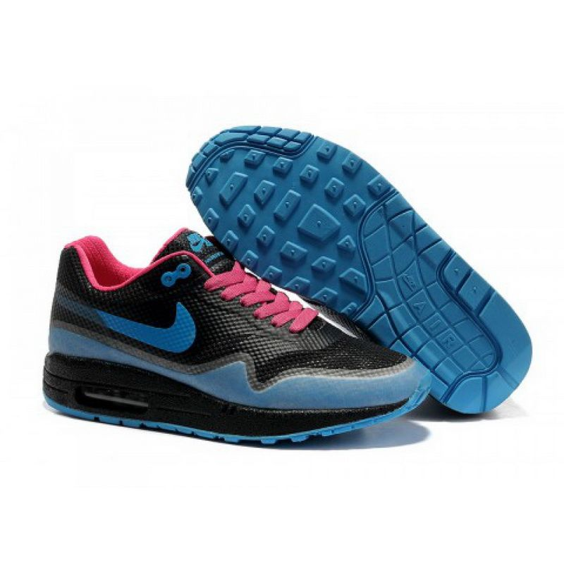 Nike Air Max 87 Hyperfus Womens Black Blue Pink Running Shoes