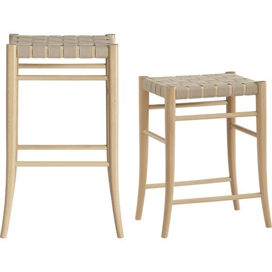 Oslo Natural 30 Backless Bar Stool In Outlet Furniture Crate And Barrel With Images Backless Bar Stools Bar Stools Counter Stools Backless