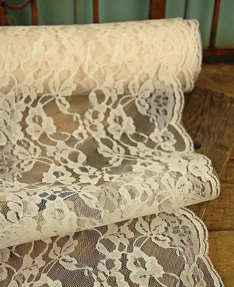 Wide Ivory Chantilly Lace Runner 9in Wide X 9 Yds Diy