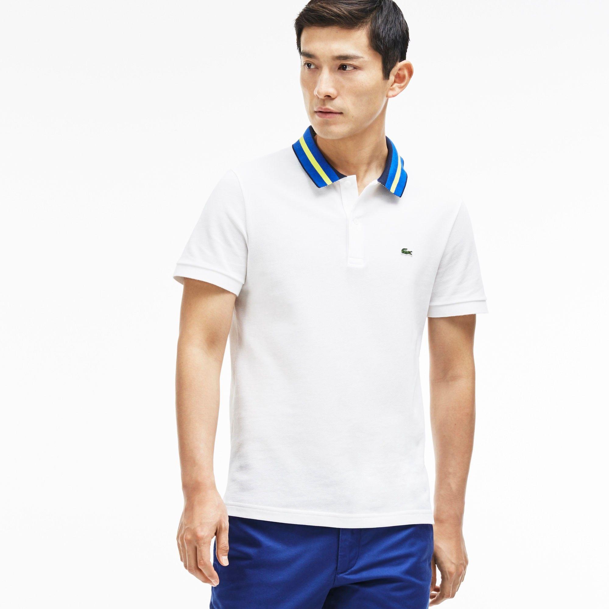 ef698c5ac White Lacoste Polo Shirts