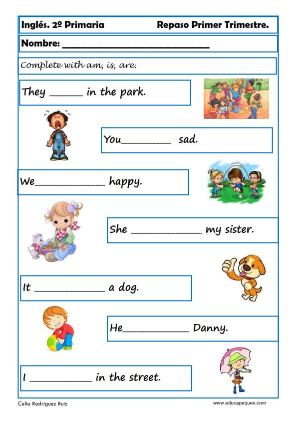 Ejercicios de inglés para segundo de primaria | ingles ...