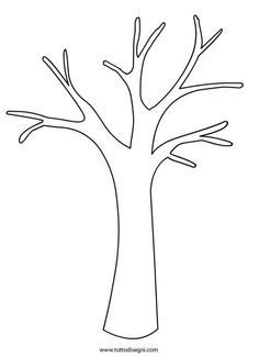 Tree Without Leaves Template. bare tree template cliparts