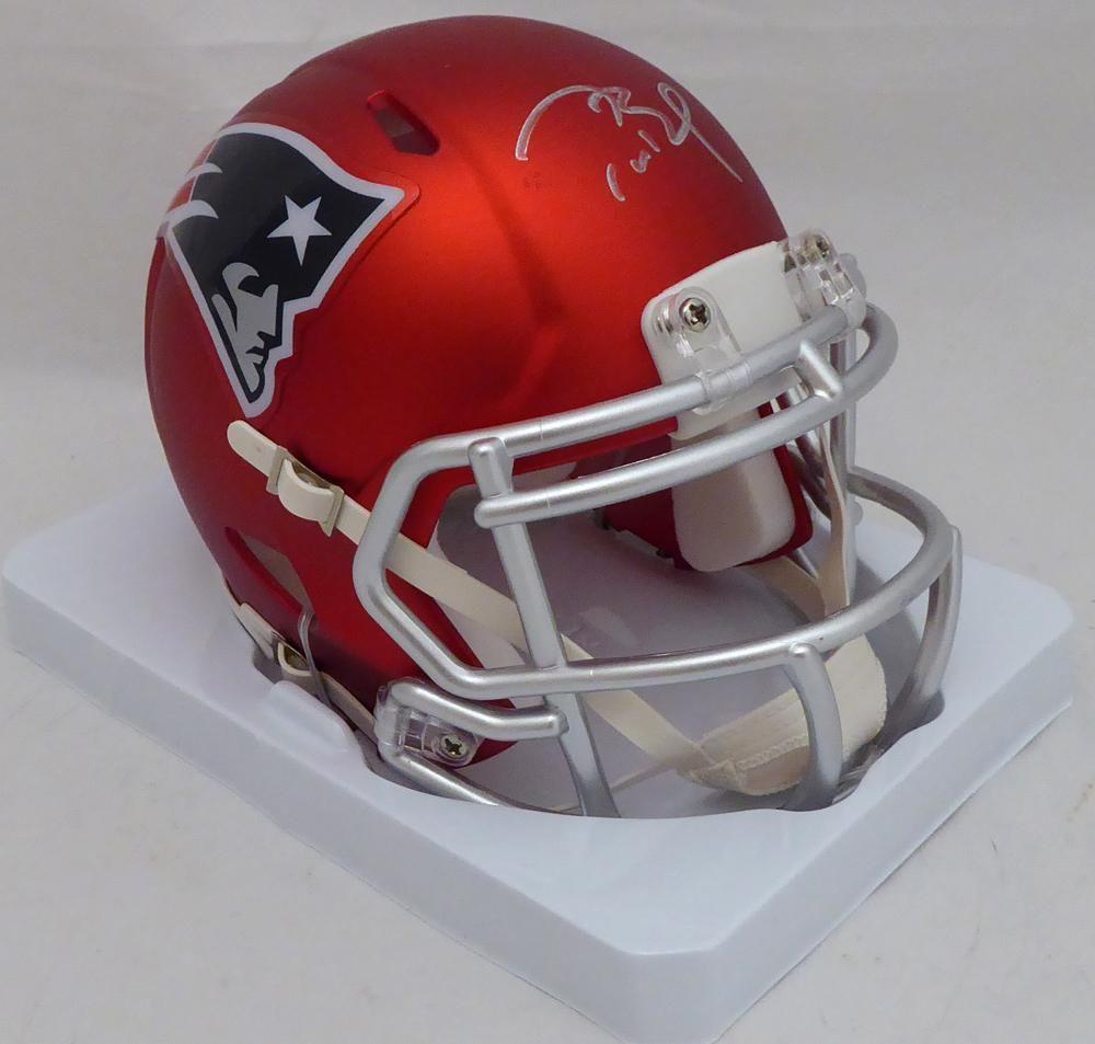 This Is A New England Patriots Blaze Speed Mini Helmet That Has Been Hand Signed By Tom Brady This Item Has New England Patriots Tom Brady Autograph Tom Brady
