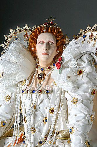 Elizabeth I, from Historical Figures of England. Portrait by George Stuart.