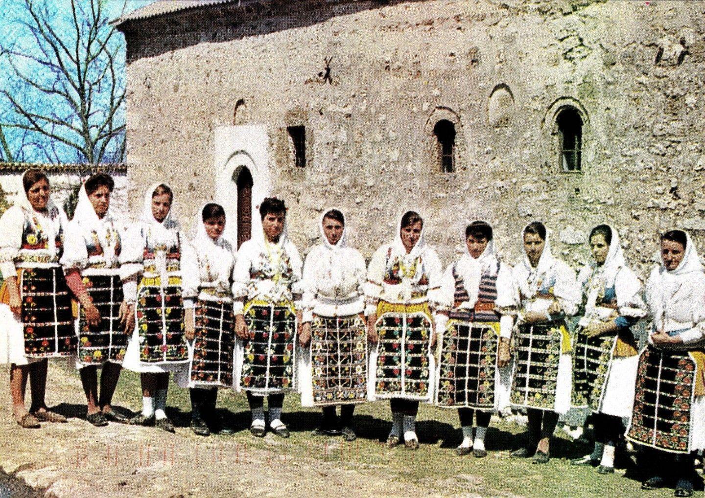 Serbian folk costumes from village of Mušutište Kosovo region of Serbia.