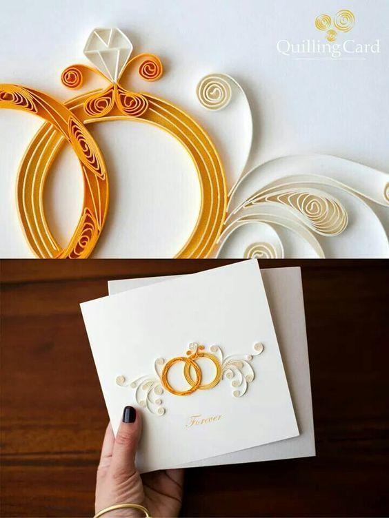 Marry quilled paper art also wedding invitation card design online free azzu in rh pinterest