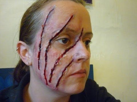 Werewolf Laceration On Face. I love the ideas she has! | Makeup fx ...