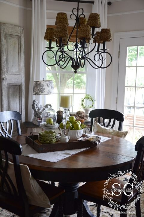 Dining Table Decor For An Everyday Look Dining Room Table Centerpieces Kitchen Table Decor Dining Table Centerpiece