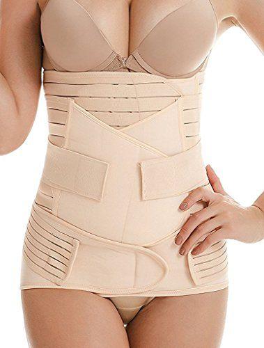 a47b9c346 DILANNI Postpartum Belly Wrap 3 in 1 Postnatal Girdle Recovery Belt Waist  Trainer Cincher