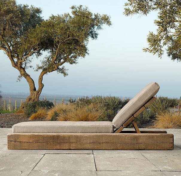 Aspen Chaise Wood Furniture Garden Furniture Rustic