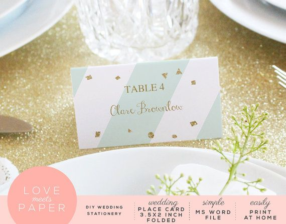 Wedding Place Card 35x4\ - stationery for word documents