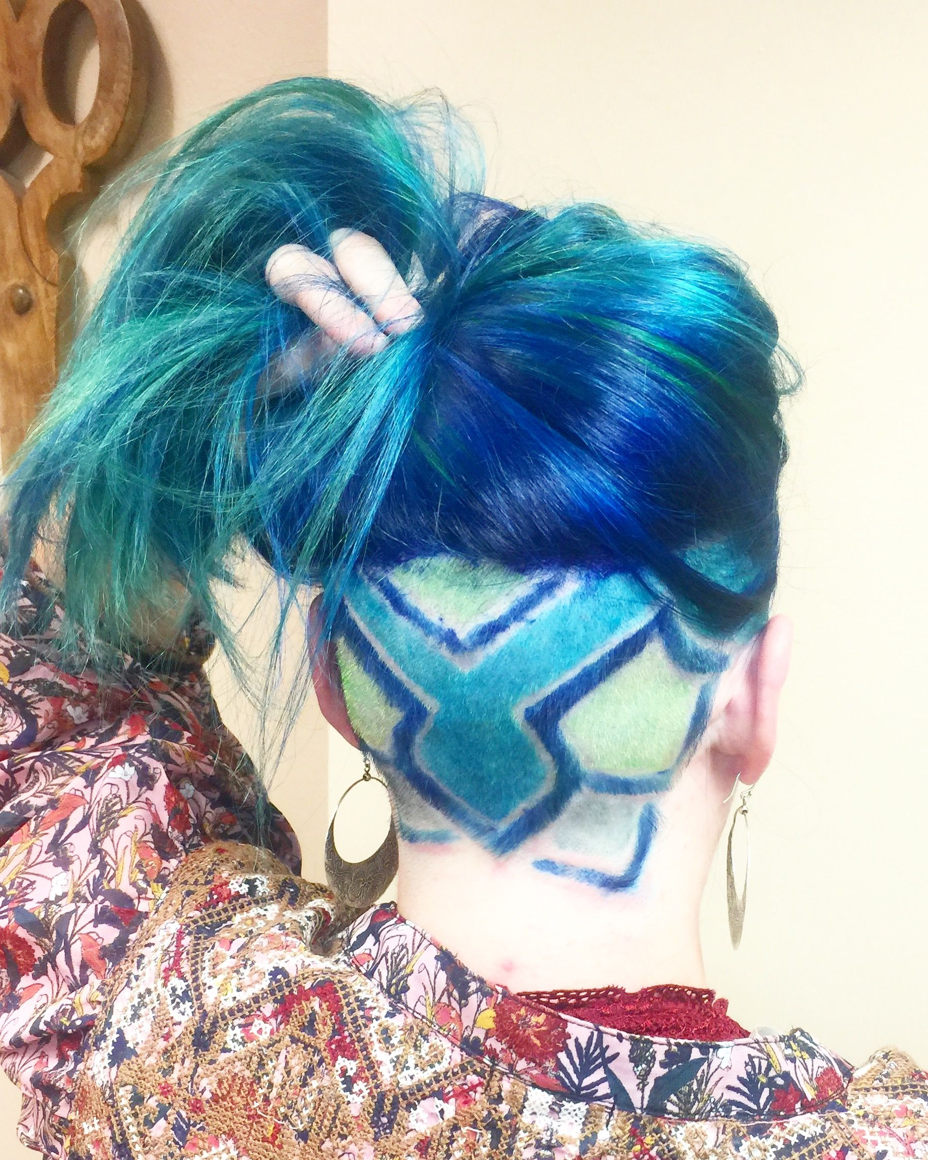 Undercut for women with long hair using pulp riot color  Hair