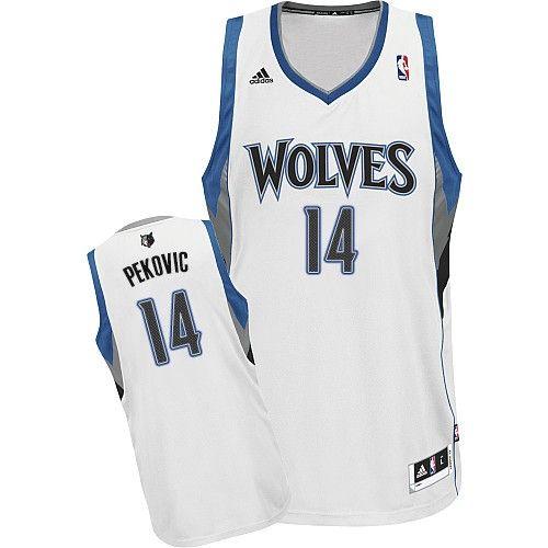 Minnesota Timberwolves  14 Nikola Pekovic White Swingman Jersey ... 3299806e0