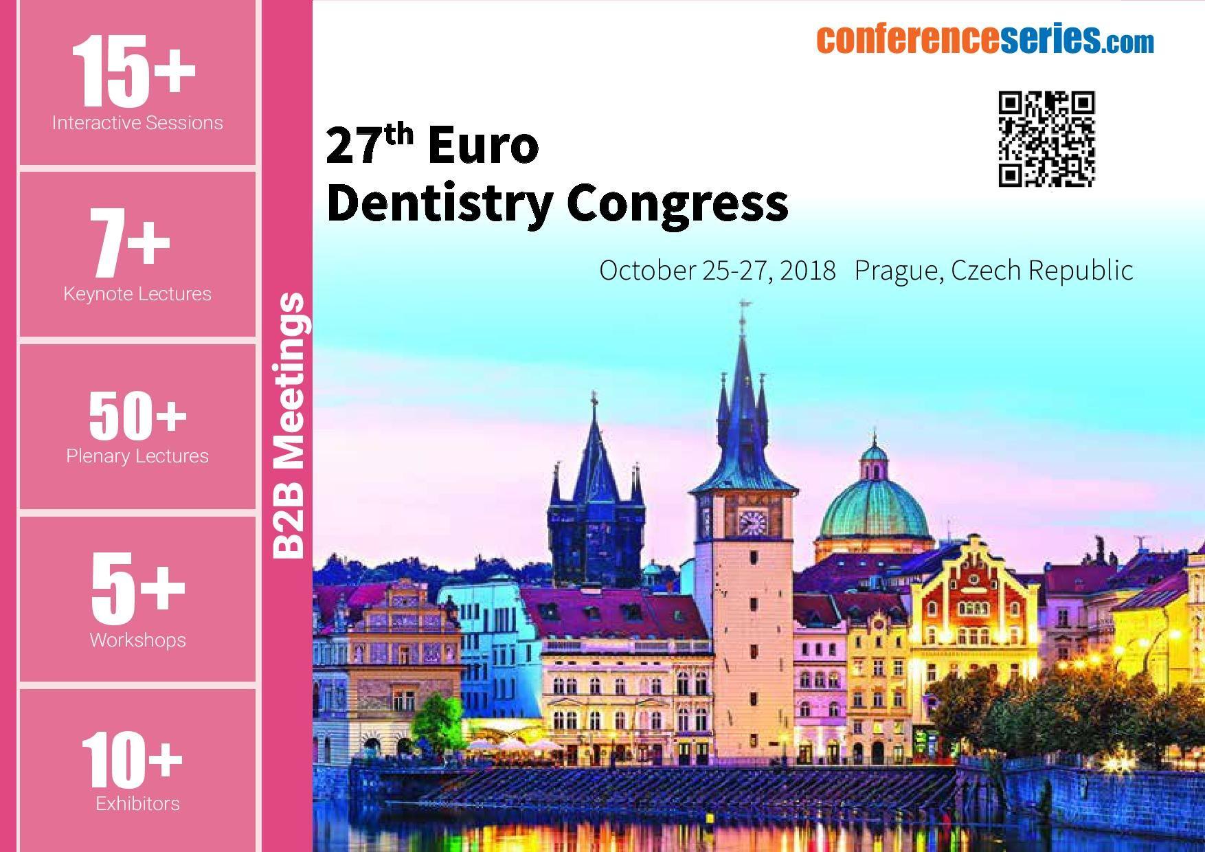 27th Euro Dentistry Congress October 2527 2018 Prague