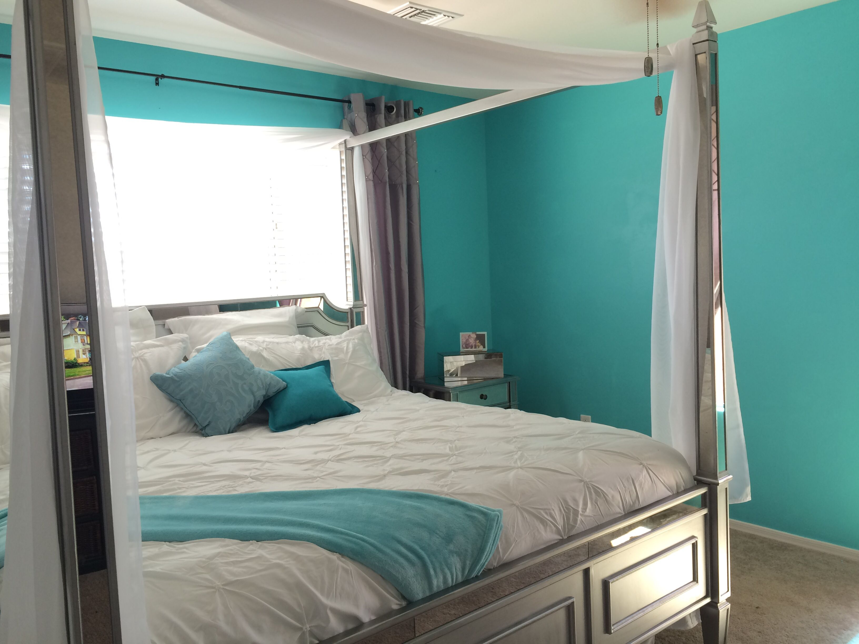 Hayworth Collection From Pier 1 Canopy Bed Grey N Teal Paint