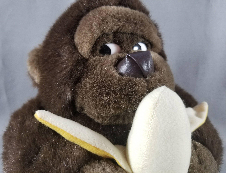 80 S Monkey And Banana Plush Toy Embrace Plush Toys Gorilla Stuffed Animal Ape Lovable Monkey Plushie Monkey And Banana Plush Toys Plush Toy [ 2293 x 3000 Pixel ]