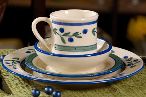 Wild Blueberry Dinnerware (Hartstone Pottery) This Hartstone pattern is US-made lead-free -- and would go really well as a mix-and-match with my Bella ... & Wild Blueberry Dinnerware (Hartstone Pottery) This Hartstone pattern ...