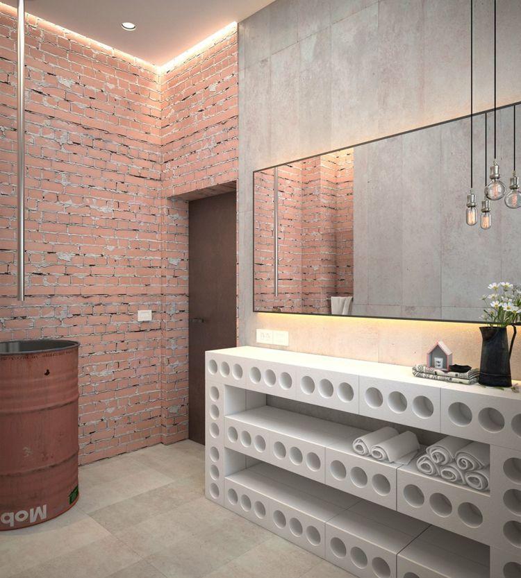Rost Optik und Beton für eine urbane Einrichtung im Industrial Style ...