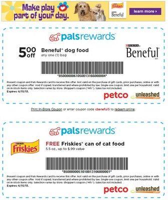 Coupons From Petco Petco Beneful Dog Food Coupons