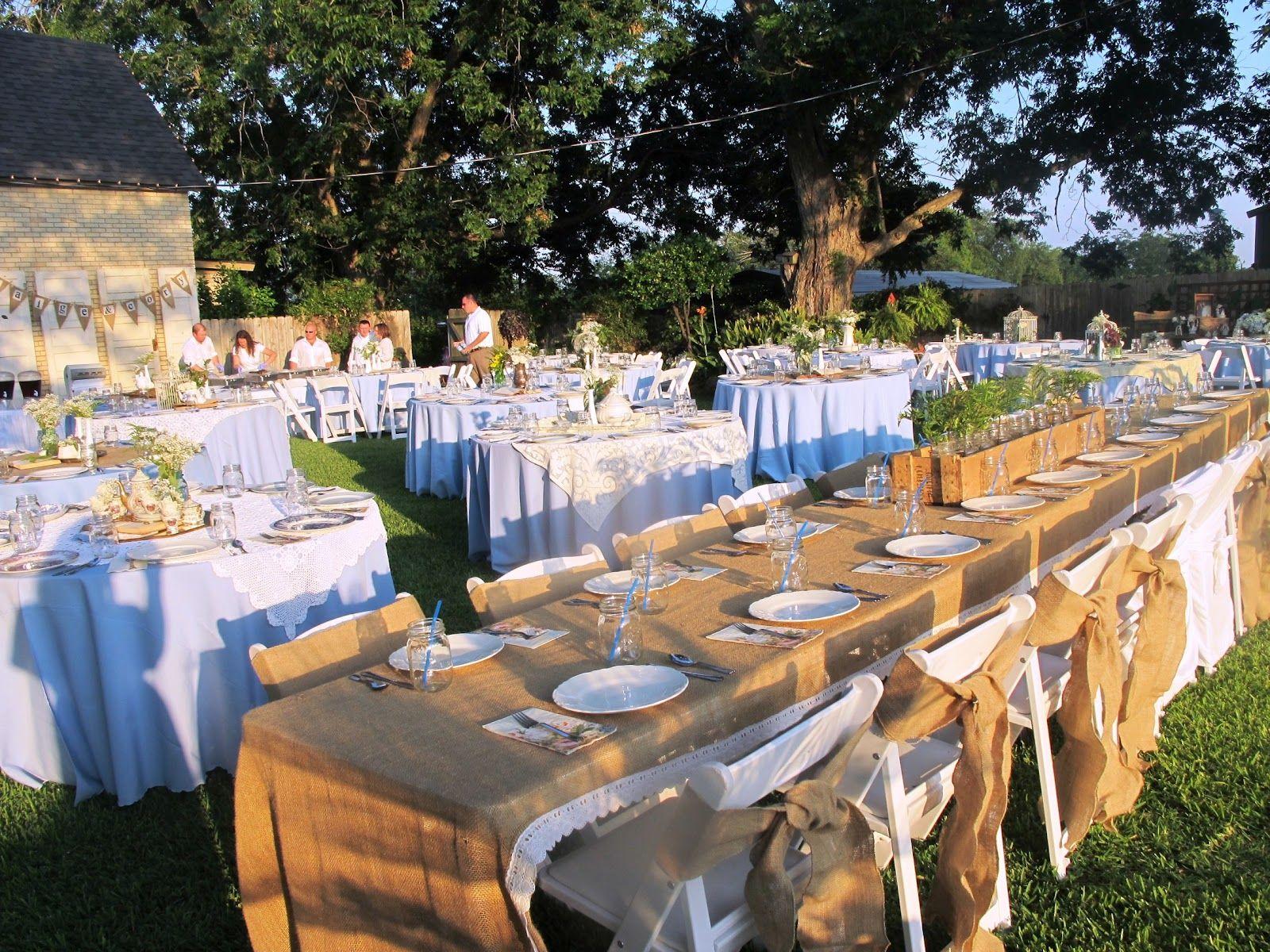 Not So Shabby | Backyard wedding, Rental decorating, Wedding