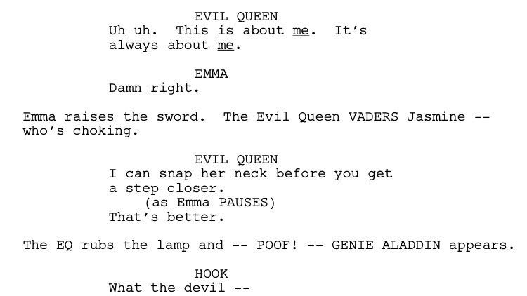 Here's another #OnceUponATime #scripttease -- hope to see ya Sunday for the #WinterFinale !