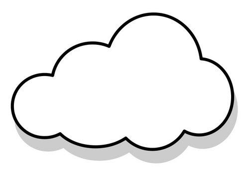 Coloriage nuage pochoirs gabarits pinterest coussin - Nuages dessin ...