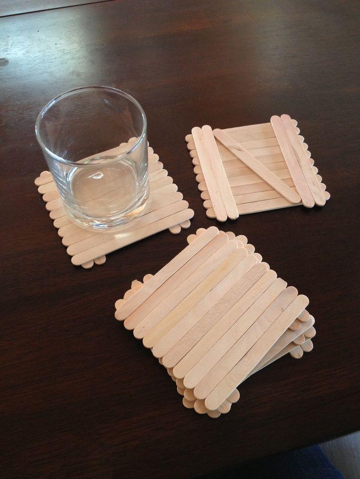 25+ best ideas about Popsicle Stick Coasters on Pinterest | Pallet ...