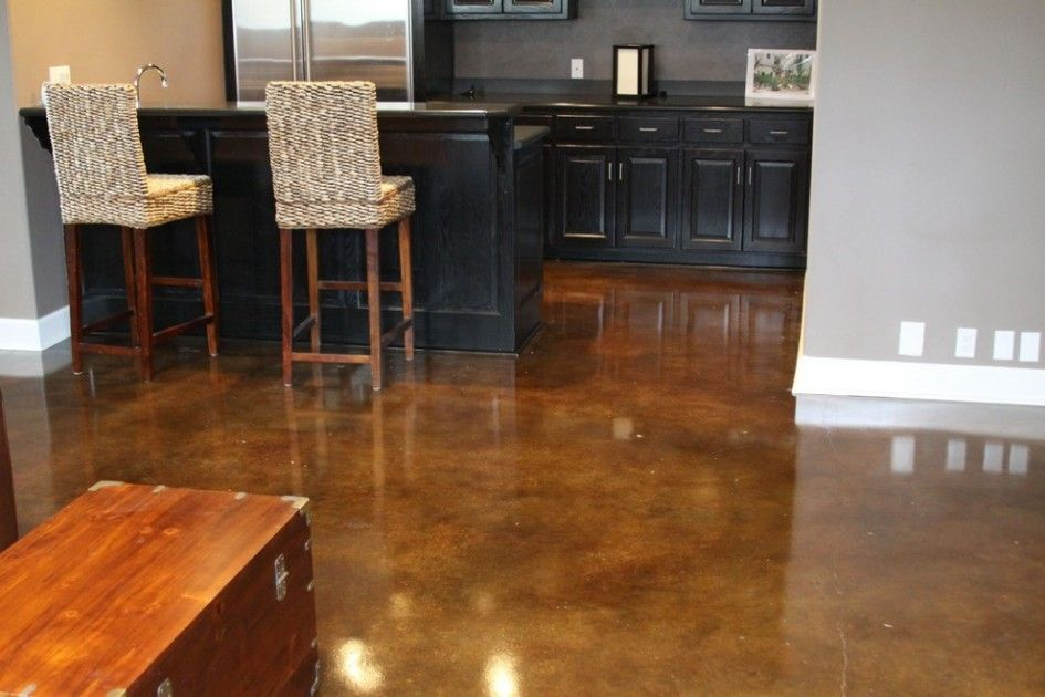 Flooring Ideas, Modern Concrete Flooring Design In Light Gray ...