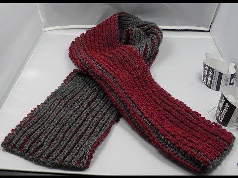 zweifarbig Stricken - Schal im Patentmuster aus Alta Moda Cashmere ...