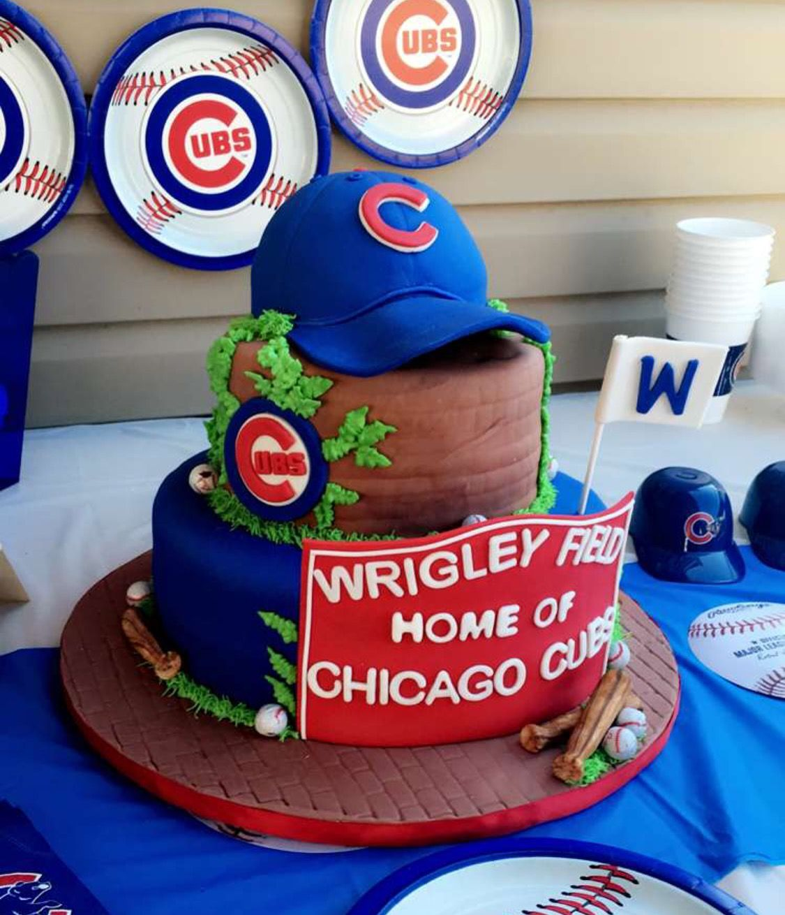 Chicago Cubs Cake, Chicago Cubs And Chicago