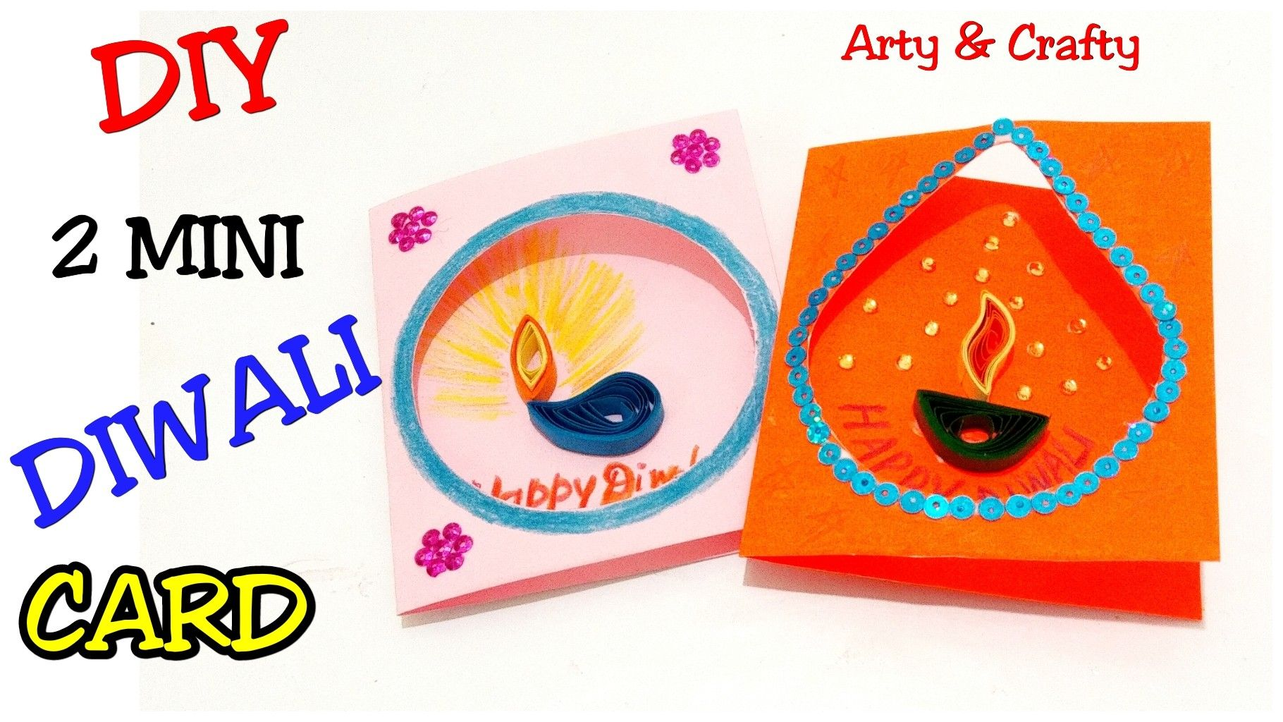 Diwali Card /Simple Diwali Card for Kids /Handmade Diwali