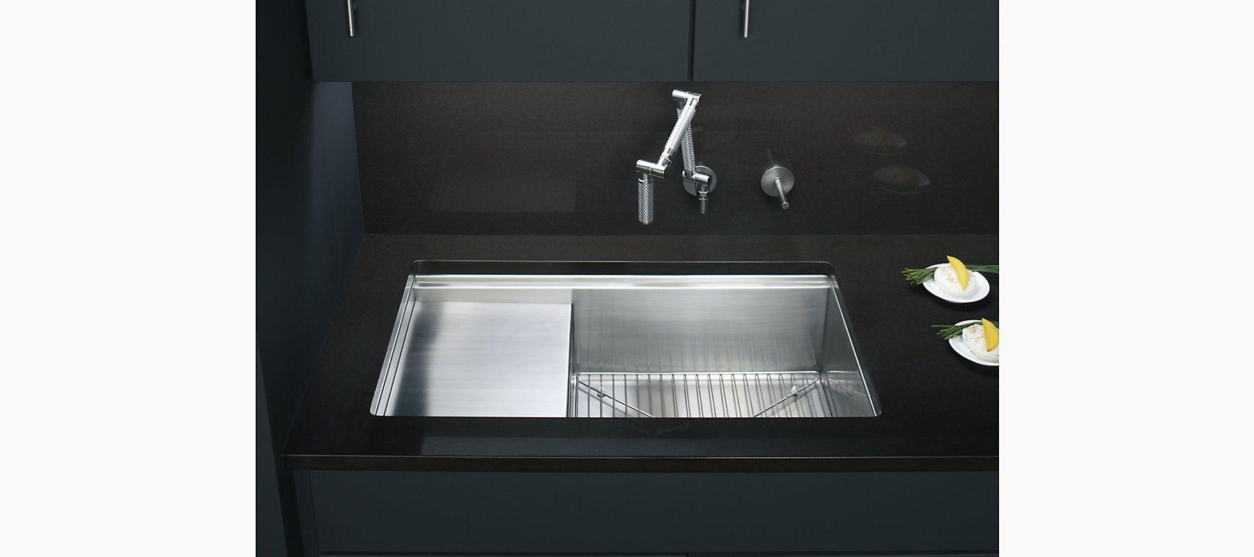 Kitchen Sink under mount kitchen sink photos : Stages 33-Inch Under-Mount Kitchen Sink | K-3760 | KOHLER the ...