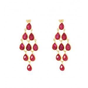 Pomegranate Hera Nine Stone Drop Earrings PKlA3