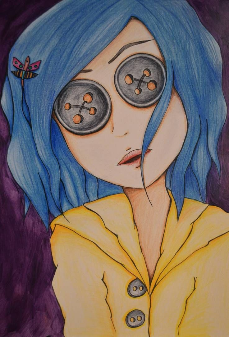 Coraline By Https Www Deviantart Com Xlifeisart On Deviantart Coraline Art Coraline Drawing Creepy Drawings
