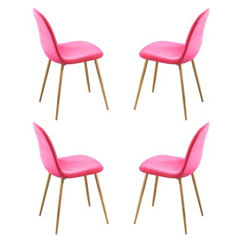Upholstered Dining Chair Gannon S Furniture Colour Pink Mit