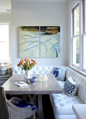 Kitchen Nook Upholstered Corner Bench