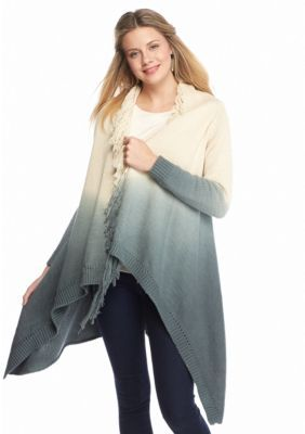Double Zero  Long Ombre Duster Cardigan
