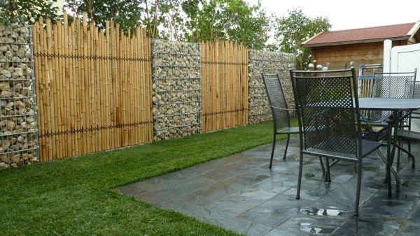 gartenzaun stein holz – rekem, Garten und Bauen