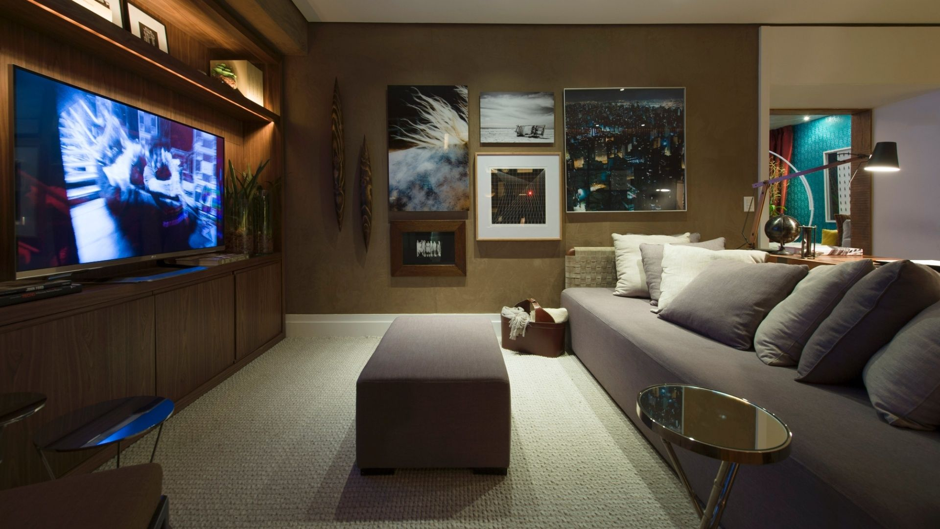 Sala De Tv Aconchegante ~ salas de home teather decoradas  Ricardo Barbosa  Pinterest  Search