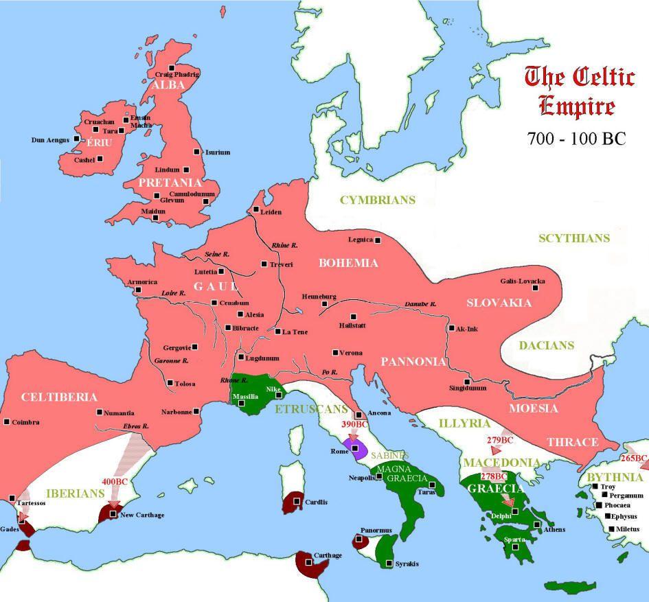 Celtic settlement of Eastern Europe