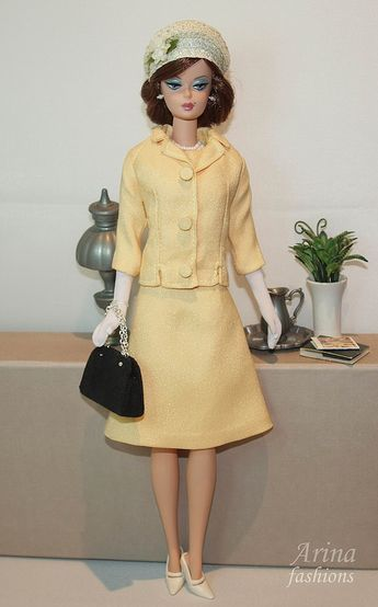"""Jacqueline Kennedy wore this suit to visit a children's hospital in Bogota, December 17, 1961, and a trip to Ottawa, Canada Departure ceremonies, May 18, 1961. 